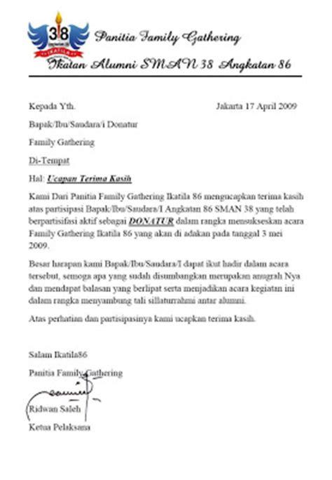 contoh surat ucapan terima kasih  donatur untaian