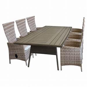 Polywood Gartenmöbel Set : 7tlg gartengarnitur gartentisch polywood tischplatte mit k hlfach aluminiumrahmen 208x110cm ~ Markanthonyermac.com Haus und Dekorationen