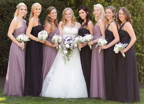 Bridesmaids In Alfred Angelo Modern Vintage Style 8615l In