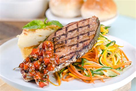 grilled fish steak  veg feenix food cake delivery