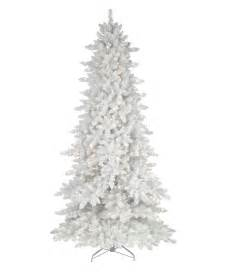 flocked white fir deluxe artificial tree tree classics
