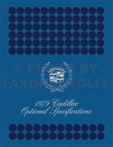 1979 Cadillac Seville Foldout Wiring Diagrams Original