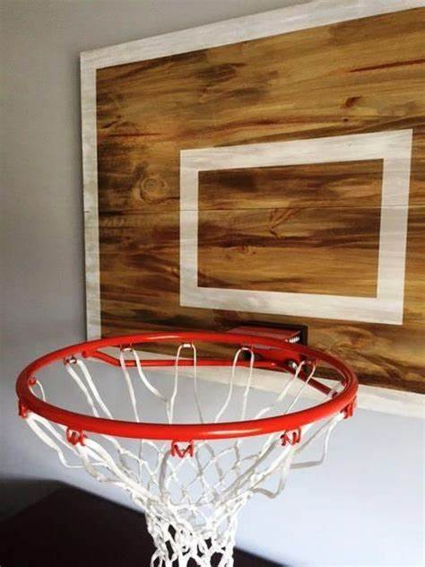 Basketball player silhouette mural decal stickers. Vintage Designed Basketball Backboard with Rim Wall Decor-FULL #basketballrim | Sports themed ...