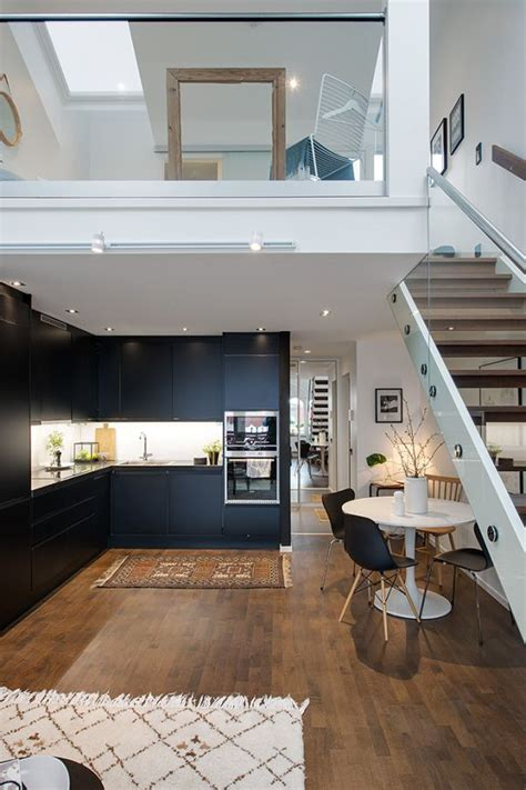 modern swedish maisonette   charming upstairs bedroom