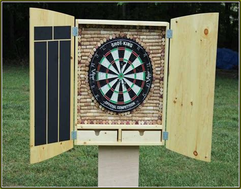 Dart Board Cabinet With Lights