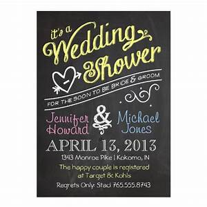 chalkboard couples wedding shower invitation zazzle With couples shower wedding invitations