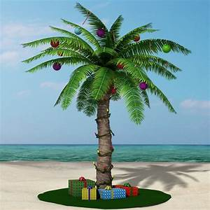 3d model christmas palm tree