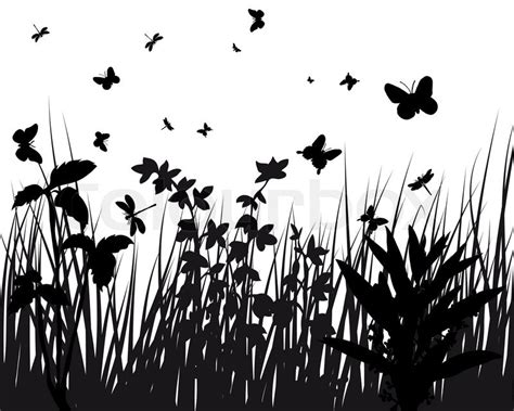 vector grass silhouettes backgrounds stock vector
