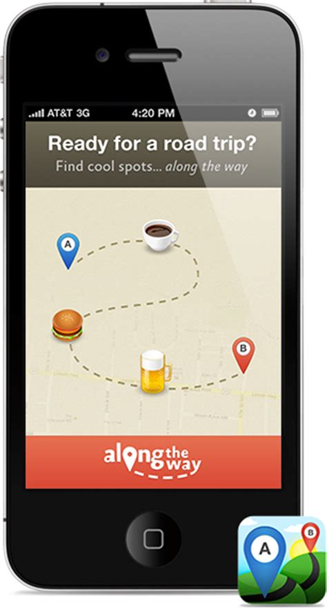 alternate ways to find app along the way an iphone app for road trips