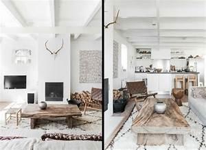 deco salon blanc pour une atmosphere accueillante 80 idees With deco style chalet moderne