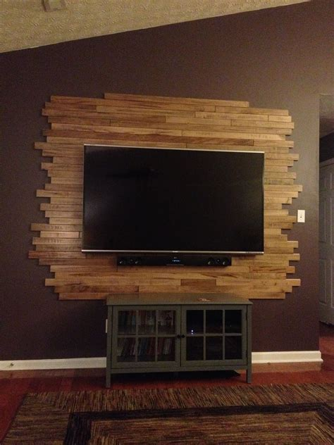 Fahrradhalterung Wand Holz by Wood Tv Wall My Creations Tv Walls Tvs