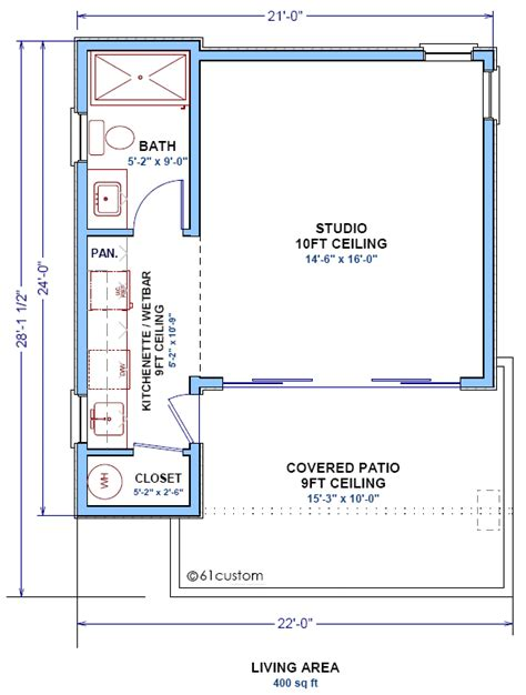 guest house plans studio400 tiny guest house plan 61custom contemporary