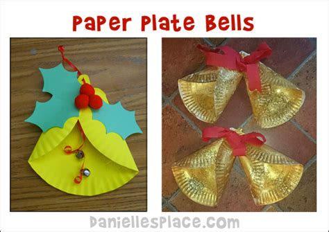 crafts for 564 | paper plate bell crafts