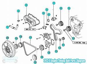 Toyota Pickup    Hilux Timing Belt Parts Diagram 3vz