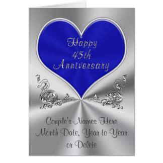45 wedding anniversary 45th wedding anniversary cards invitations zazzle co uk