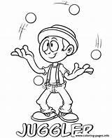 Coloring Juggler Professions Printable Sheets Topcoloringpages Cyrcus Sheet sketch template