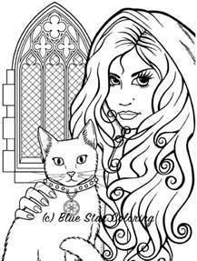 Adult Gothic Coloring Book Pages