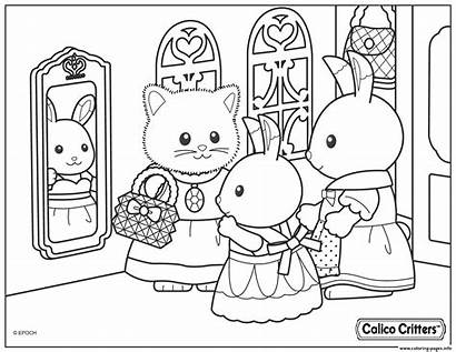 Sylvanian Coloring Critters Families Pages Calico Church