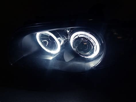 bmw headlights at night 2008 2012 bmw e82 e88 1 series depo v2 led angel eye