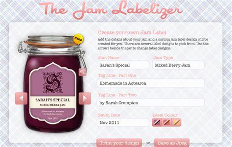 bureau r馮lable jam labelizer jam label generator gramkin paper studio