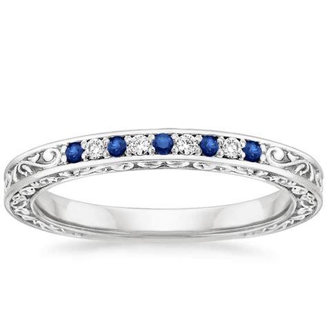antique scroll sapphire  diamond ring brilliant earth