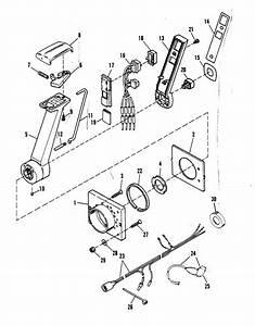 Mercury Marine Remote Controls  U0026 Components Remote Control Assembly Remote Control Assembly Parts