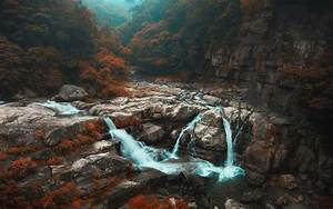 Nature, Landscape, Fall, Forest, Waterfall, Trees, River