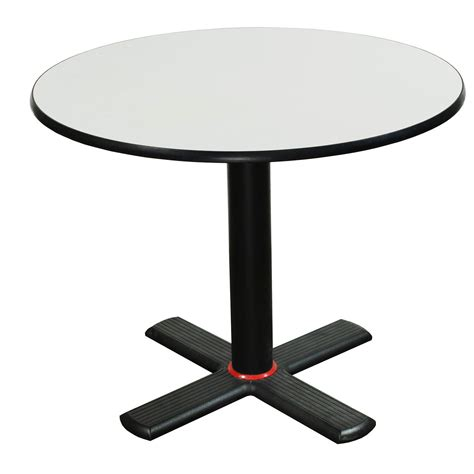 Laminate 36 Inch Round Top Table, White  National Office