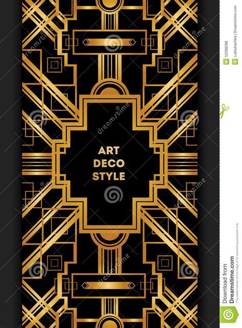art deco vintage decorative frame retro card design