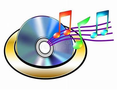 Cd Notes Musical Vector Royalty Illustration Dreamstime