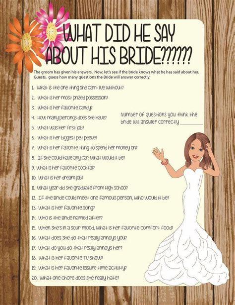To Play At A Bridal Shower - bridal shower bridal shower