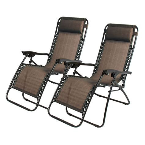 pcs folding  gravity reclining lounge chairs outdoor