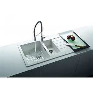 schock signus 1 5 bowl and drainer 1000mm x 500mm reversible cristadur inset kitchen sink sig d