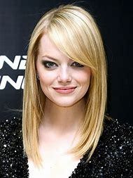 Emma Stone Side Swept Bangs