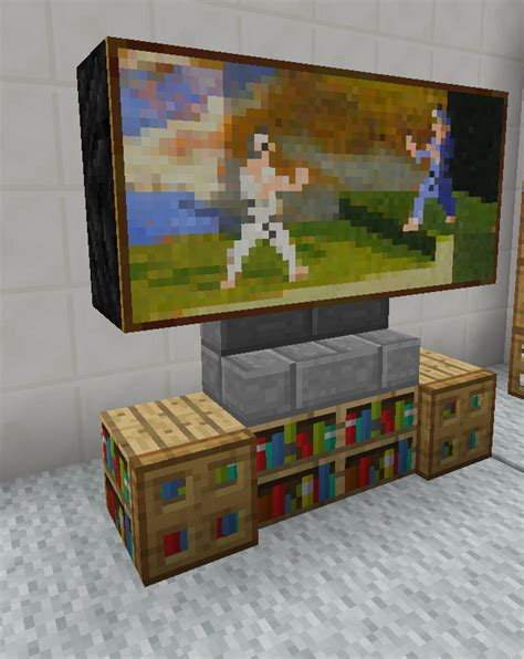 Cool Living Room Minecraft by Minecraft Tv Television Entertainment Center Furniture