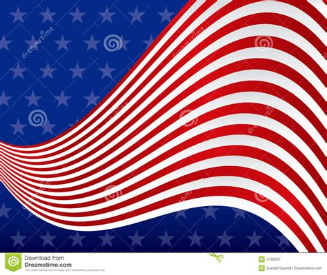 Stars And Stripes Background Royalty Free Stock