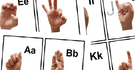 Free Printable Asl Sign Language Alphabet Cards & Poster