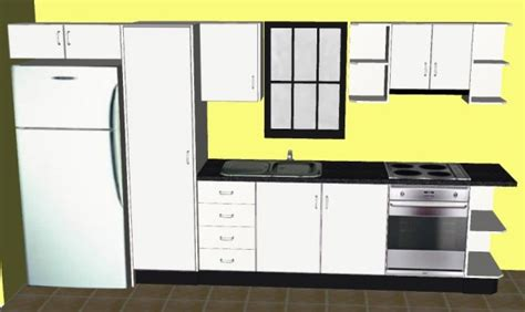 Open Kitchen Layout Ideas - planning your single line kitchen