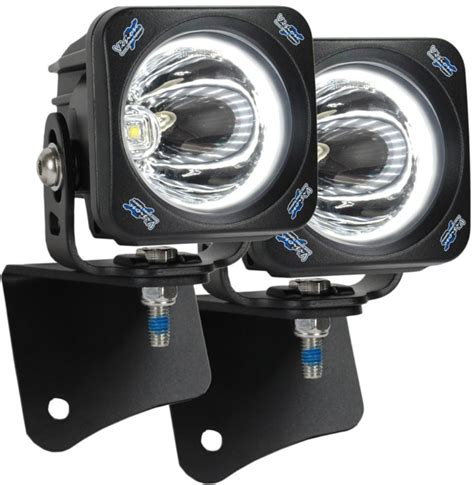 led light pods vision x optimus halo square led pod lights w pillar