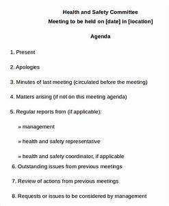 10 safety agenda templates free sample example format With health and safety committee meeting agenda template