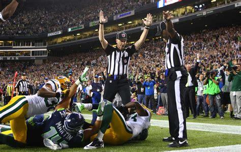 nfl missed call  hawks game   overturned