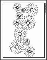 Coloring Daisy Flower Garland Daisies Drawing Flowers Pdf Sunflower Rose Printable Colorwithfuzzy Outline Printables Roses Pdfs Customizable Realistic Getdrawings sketch template