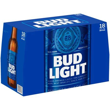 18 Pack Bud Light by Bud Light 174 18 Pack 12 Fl Oz Bottles Walmart