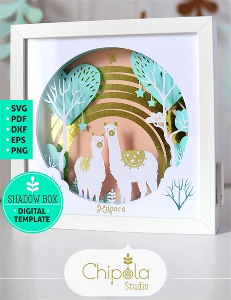 That one wouldn't require scoring. Alpaca Shadow Box SVG, 3d papercut SVG, layered paper art ...