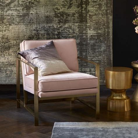 brass armchair with pink upholstery mad about the house