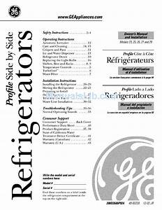 Ge Refrigerator Owners And Installation Manual Pdf