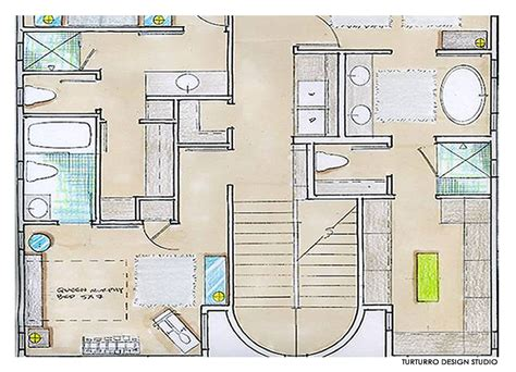 Second Floor Drawing, Ecofriendly Beach House In California