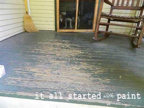 using porch floor paint to create a painted rug and
