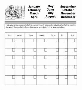 preschool calendar templates 9 download free documents With preschool calendar template printables