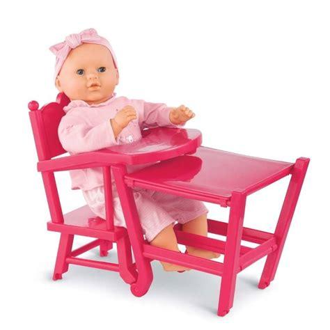 chaise haute pour poupée corolle chaise haute pour poupée cerise
